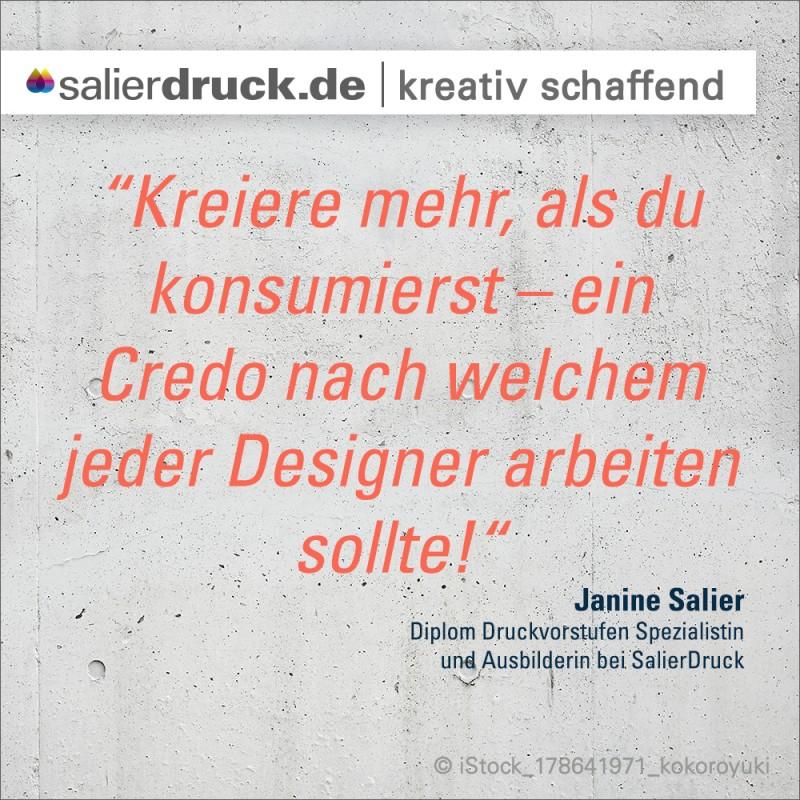 """""""Kreiere mehr, als du konsumierst – ein Credo nach welchem jeder Designer arbeiten sollte."""""""