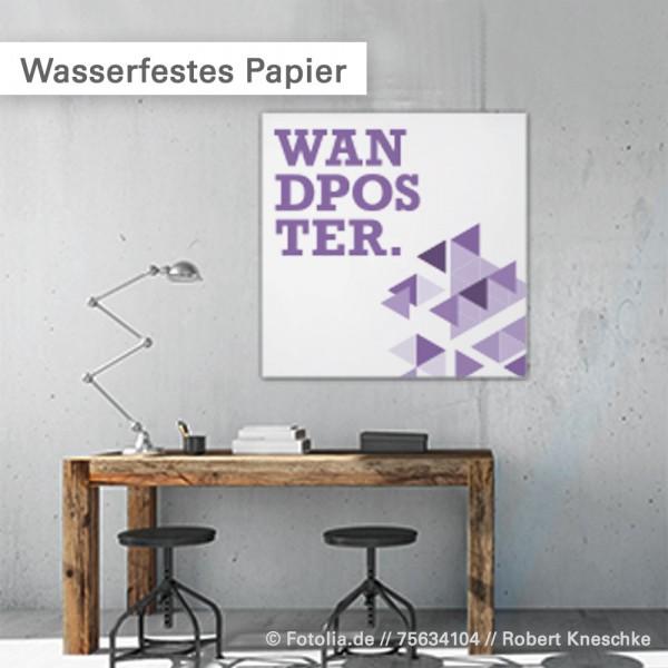 Wasserfestes Papier - individuelle Poster bei Salierdruck.de