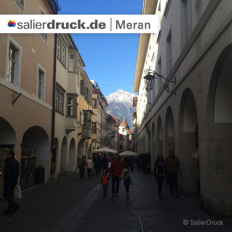 Die Innenstadt von Meran.