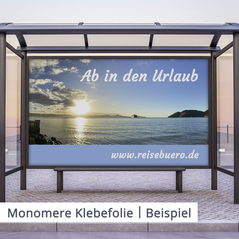 Monomere Klebefolien sind ideal für günstige Werbeprojekte.