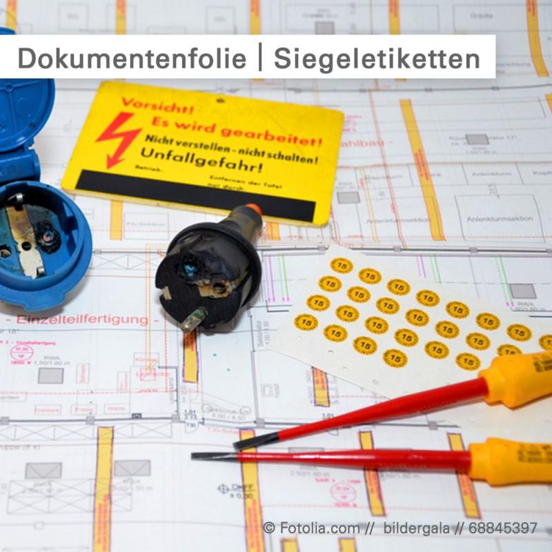 Dokumentenfolie ist ideal für Sicherheitssiegel geeignet - online bestellen bei SalierDruck.de