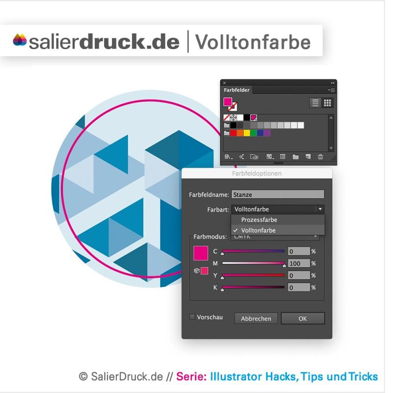 So werden Volltonfarben in Adobe Illustrator angelegt – SalierBlog