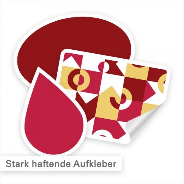 Stark haftende Aufkleber – individuell in Form und Motiv | SalierDruck.de