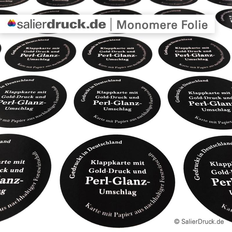 Monomere Klebefolie für Sticker und Etiketten drucken | SalierDruck