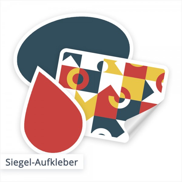 Siegel Etiketten individuell besruckt - SalierDruck.de