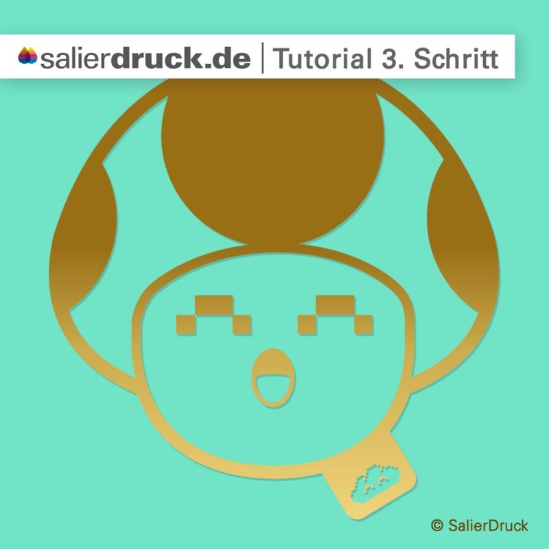 CMYK-Gold-Anleitung 3. Schritt | SalierDruck