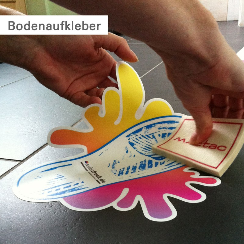 Aufkleber drucken als Bodenaufkleber | SalierDruck.de