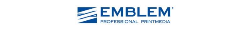 Die Marke EMBLEM gehört zu dem Unternehmen DATAPLOT. Das Merkmal der Firma ist das Muster links neben der Bezeichnung.
