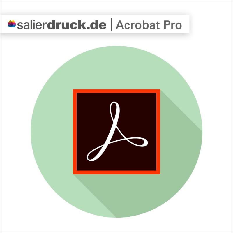 Grafische Darstellung des Adobe Acrobat Pro Logos – Lexikon SalierBlog
