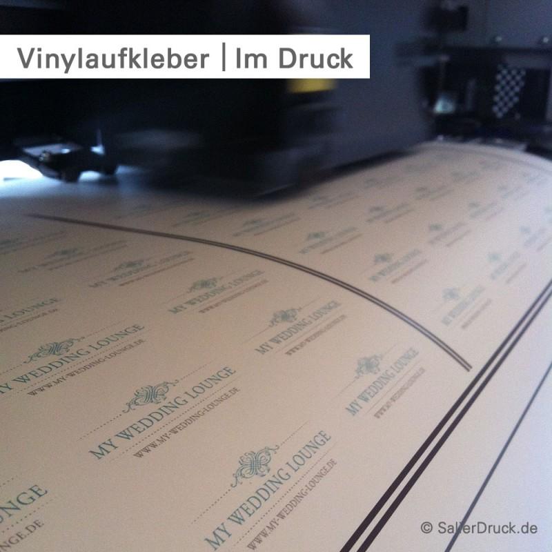 Vinylaufkleber – bedruckt im 4-farb CMYK Digitaldruck | SalierDruck.de