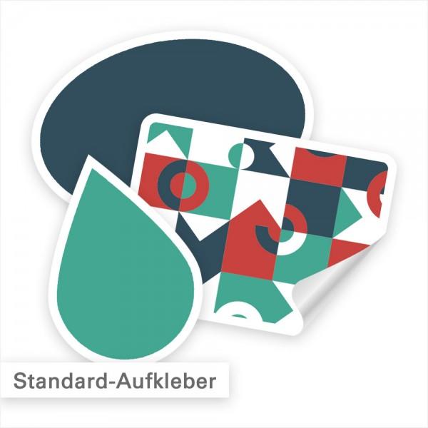 Aufkleber bestellen in individueller Größe und Form - SalierDruck.de