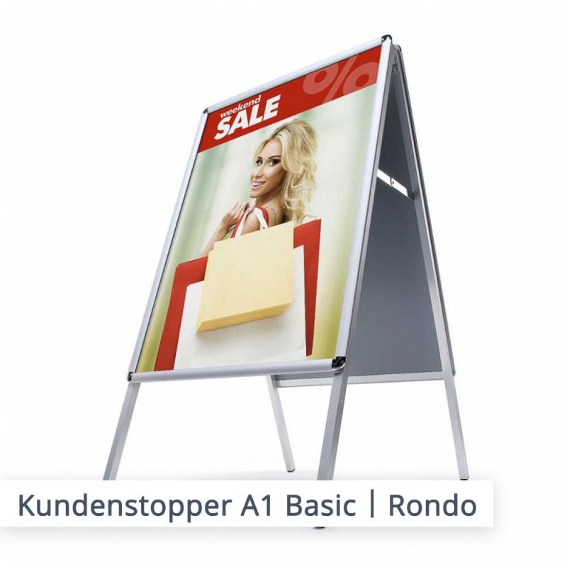 "Kundenstopper Basic | Ausführung ""Rondo"""