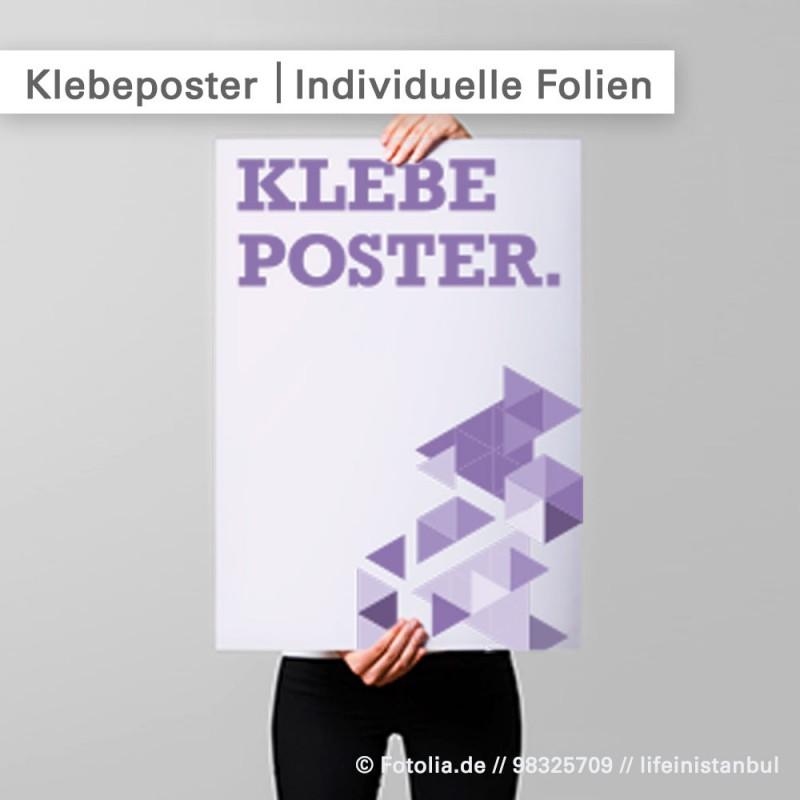 Klebeposter individuell bedruckt bei SalierDruck.de