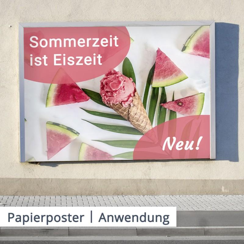 Papier Poster – einfach clever werben – mit individuell bedrucktem Papier Poster   SalierDruck.de