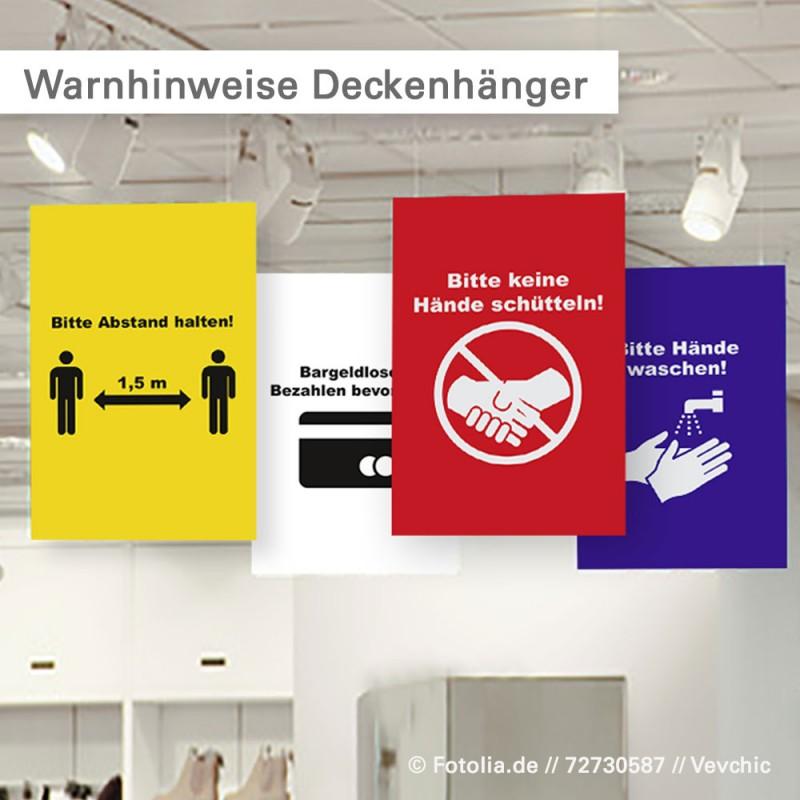 Corona auf Schildern oder als Deckenhänger | SalierDruck.de
