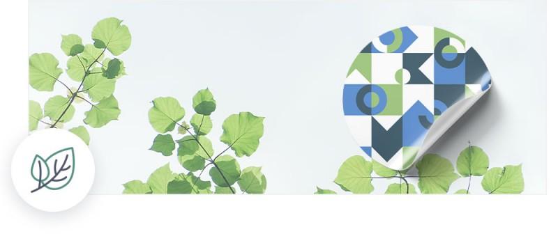 Die umweltfreundlichen Sticker sind schadstoffarm und leicht zu recyclen.