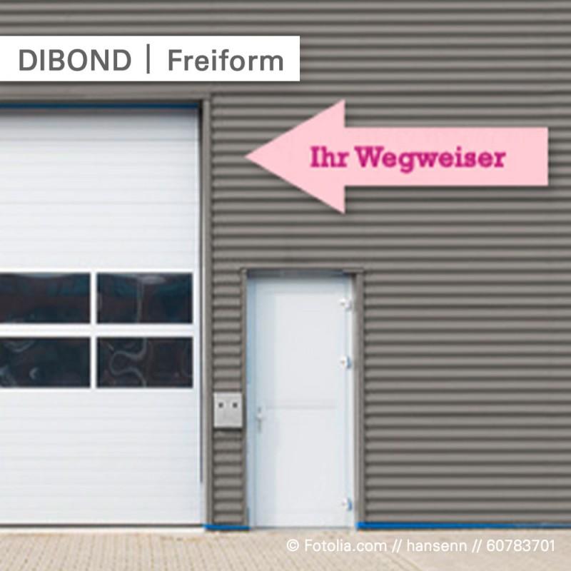 Schilder bedrucken - wir fräsen Ihre Wunschform - SalierDruck.de