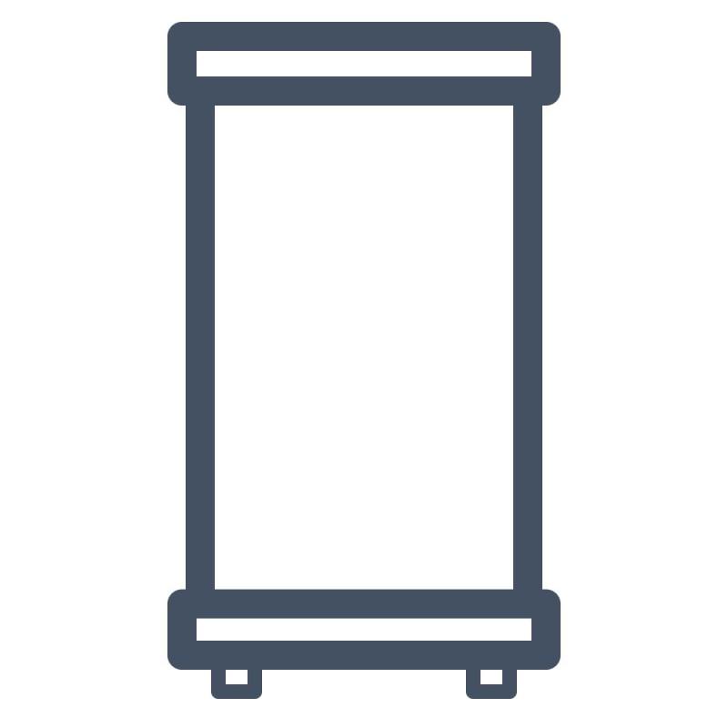 Roll-Up-Displays machen Ihre Werbung transportabel und eignen sich für vielseitige Einsätze.