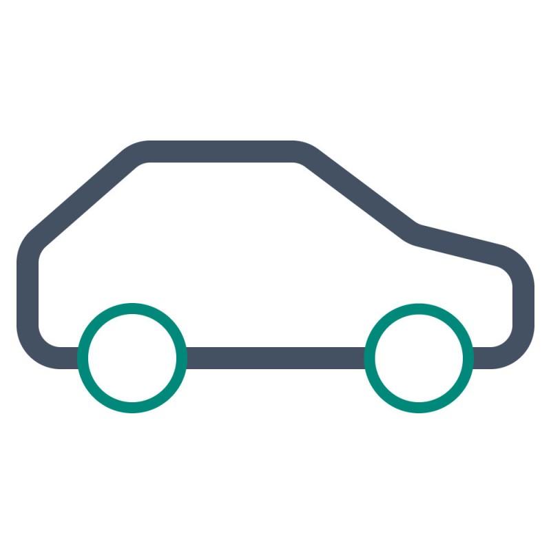 Verklebungen von 3D Objekten mit vielen Rundungen, wie Autos, müssen mit speziellen, dimensionsstabilen Carwrapping-Folien vorgenommen werden.