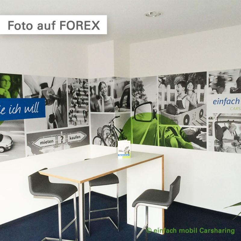 Foto auf Forex in den Geschäftsräumen unseres Kunden einfach mobil Carsharing GmbH