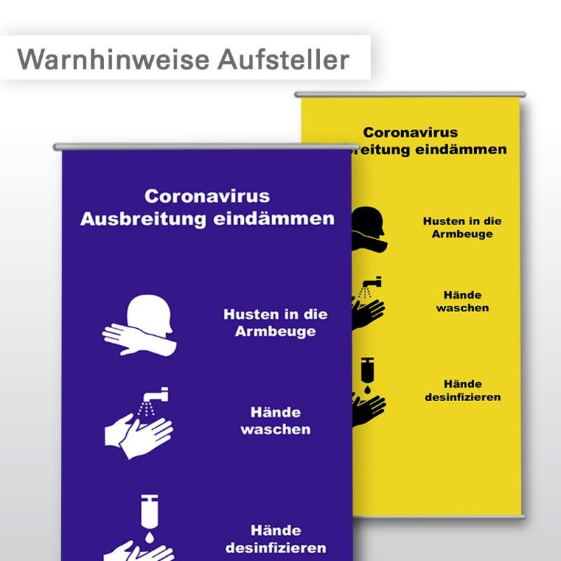 Corona Aufsteller | mit oder ohne Display bestellbar | SalierDruck.de