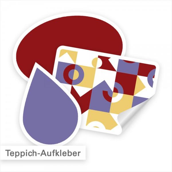 Teppichaufkleber als Fußbodenaufkleber individuell bedruckt - SalierDruck.de