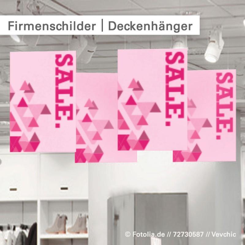 Firmenschilder als Deckenhänger – SalierDruck.de