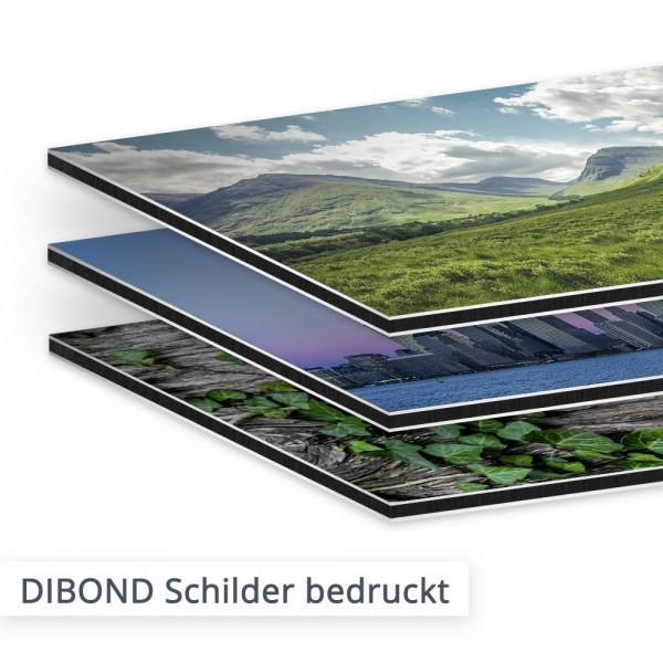 DIBOND Aluminium Verbundplatten bedruckt