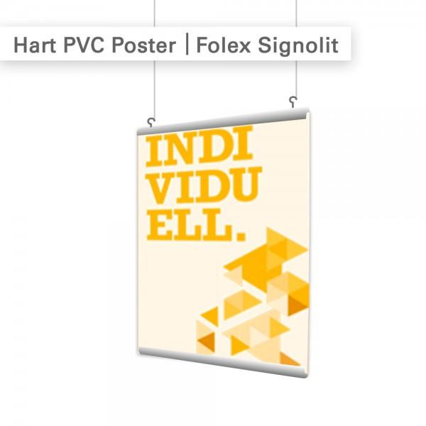 Hart PVC Druck mit individuellen Motiven auf Regulus Signolit - SalierDruck.de