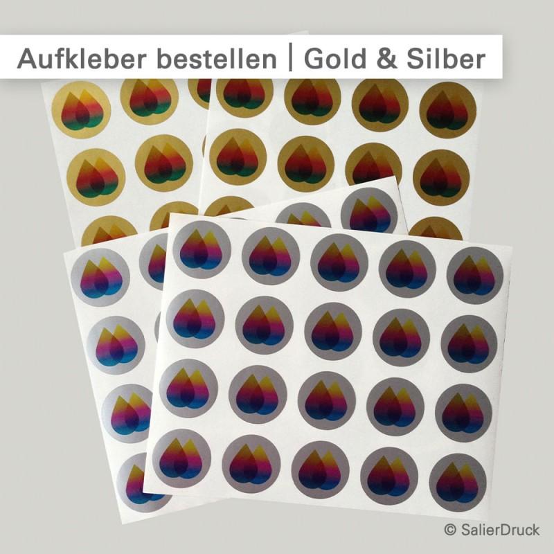 Aufkleber Silber und Gold individuell kalkulieren und bestellen...