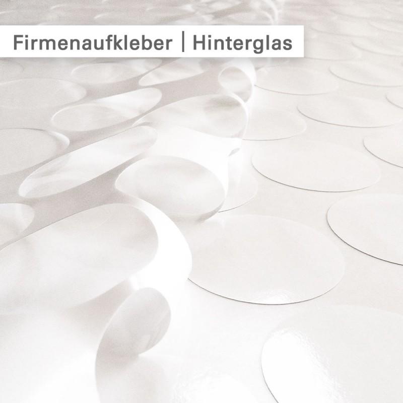 Firmenaufkleber Hinterglas individuell drucken - günstig bei Salierdruck.de