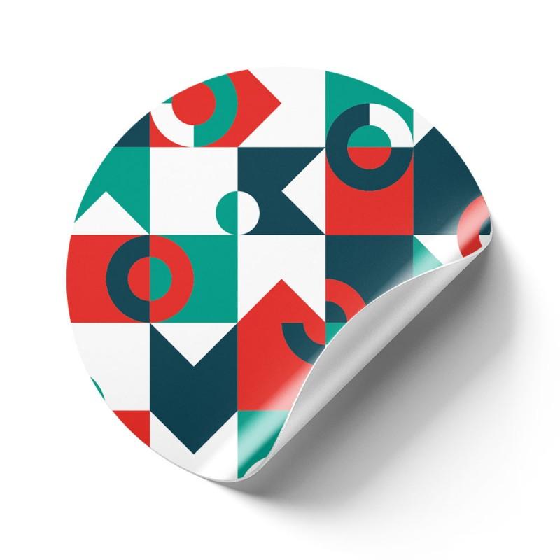 Runde Aufkleber aus unserer Standard Klebefolie sind günstig und vielseitig.