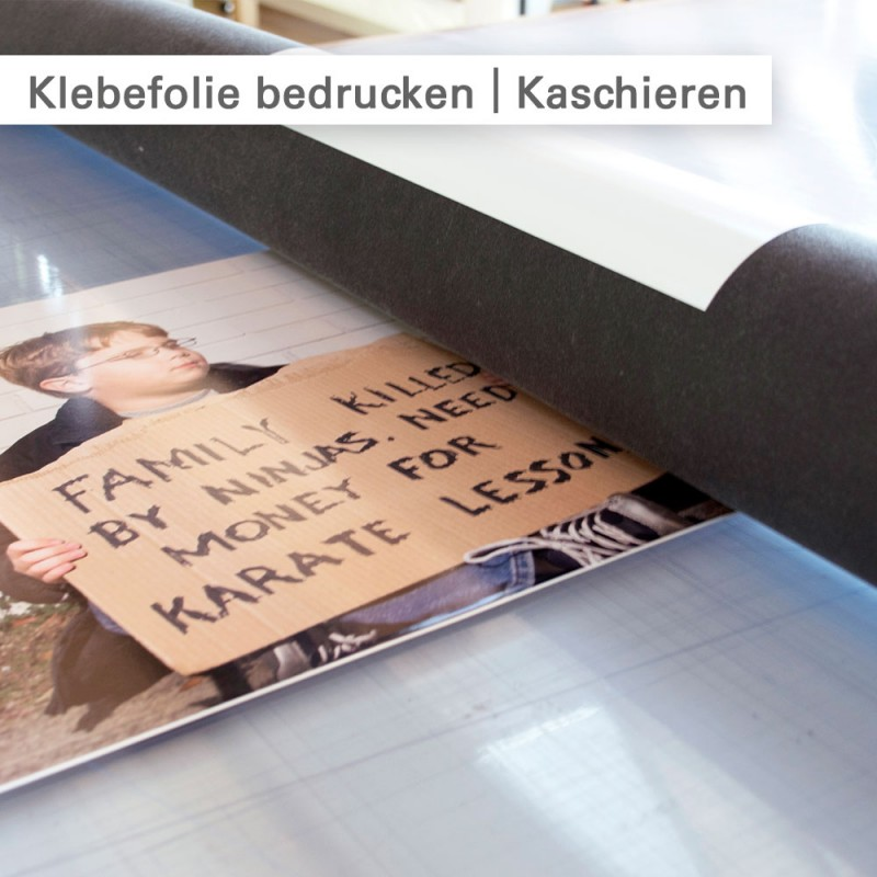 Klebefolie bedrucken – Kaschieren – SalierDruck.de