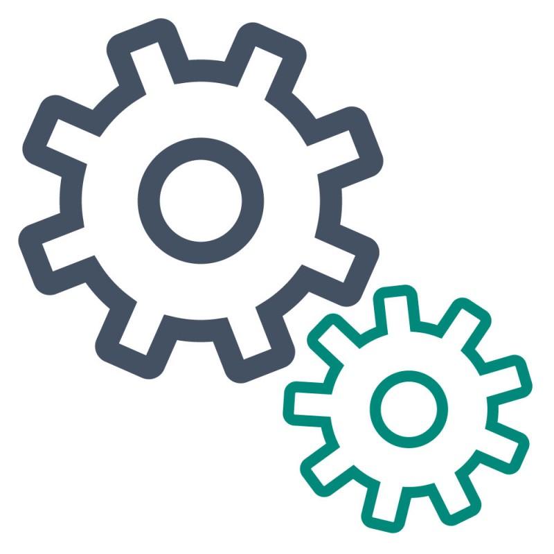 Maschinenaufkleber sind besonders robust und eignen sich zur Verwendung in Industrieumgebungen.