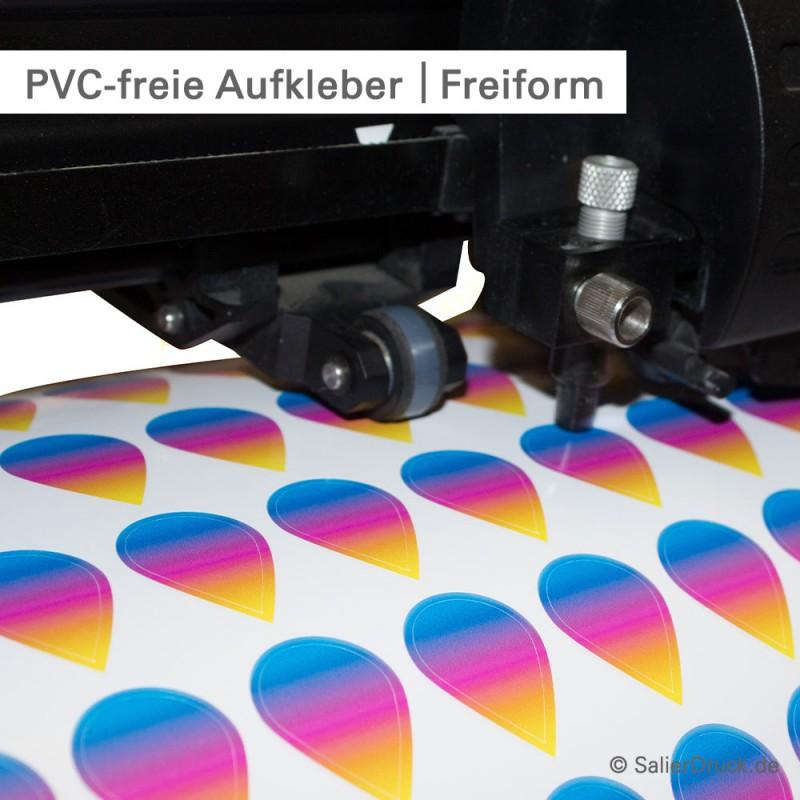 PVC-freie Aufkleber mit Konturschnitt - SalierDruck.de