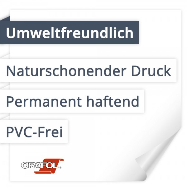 Orafol Orajet 3174 Umweltfreundlich | PVC-Frei | Permanent haftend | Naturschonender Druck