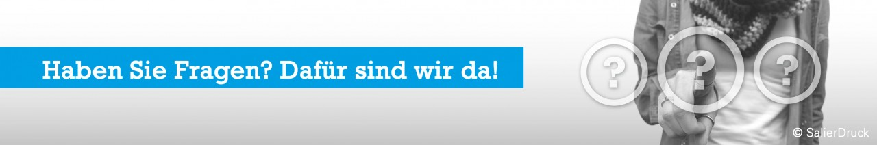 Haben Sie Fragen zu Kundenstoppern? Wir beantworten diese gerne - SalierDruck.de