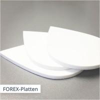 FOREX Hartschaumplatten können bei uns in jeder beliebigen Form geschnitten werden.