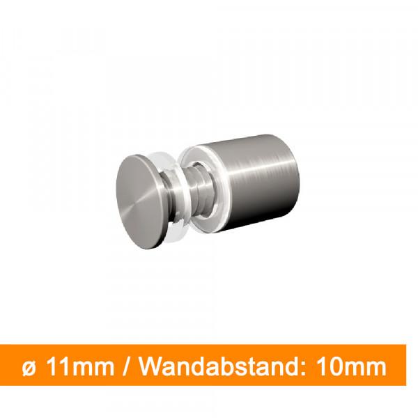 Wandabstandshalter - Durchmesser 11mm - Abstand 10mm - SalierDruck.de