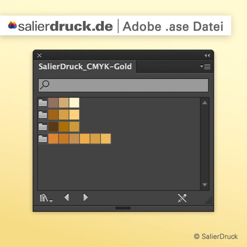 Gold-CMYK-Farbfelder in einer ase-Datei | SalierDruck