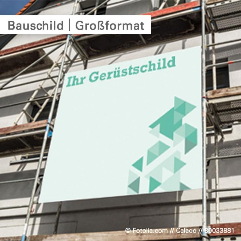 Bauschild aus Aluminiumverbund – individuell bedruckt mit Ihrem Motiv – SalierDruck.de