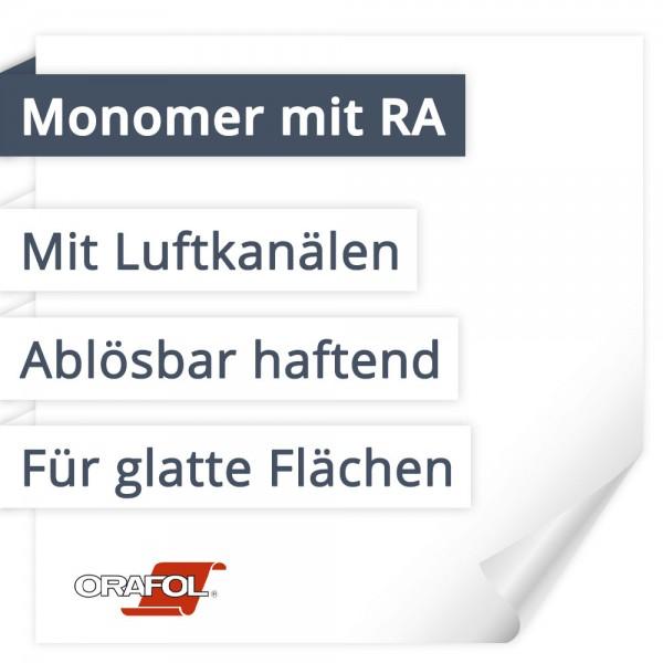 Orafol Orajet 3162XRA Monomer Mit Rapid Air | Mit Luftkanälen | Ablösbar haftend | Für glatte Flächen