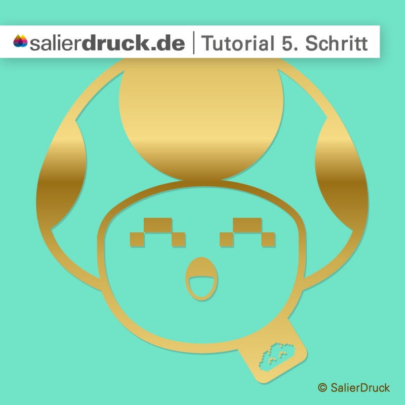 CMYK-Gold-Anleitung 5. Schritt | SalierDruck