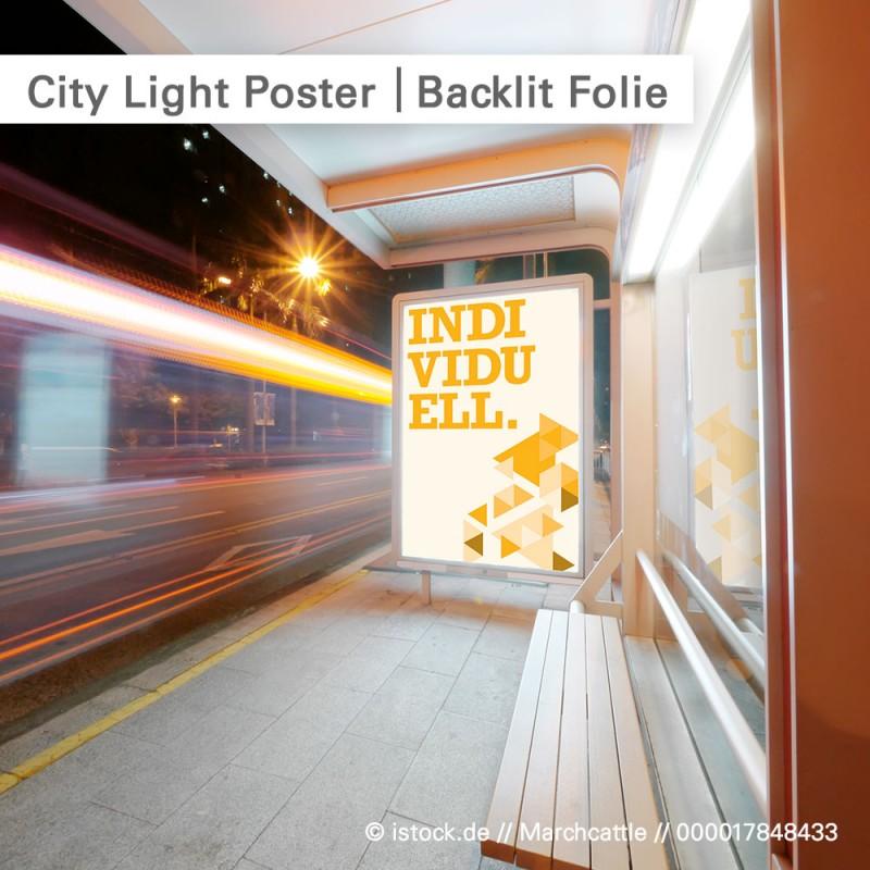 City Light Poster – bedruckbare Backlit Folie für hinterleuchtete Motive | SalierDruck.de