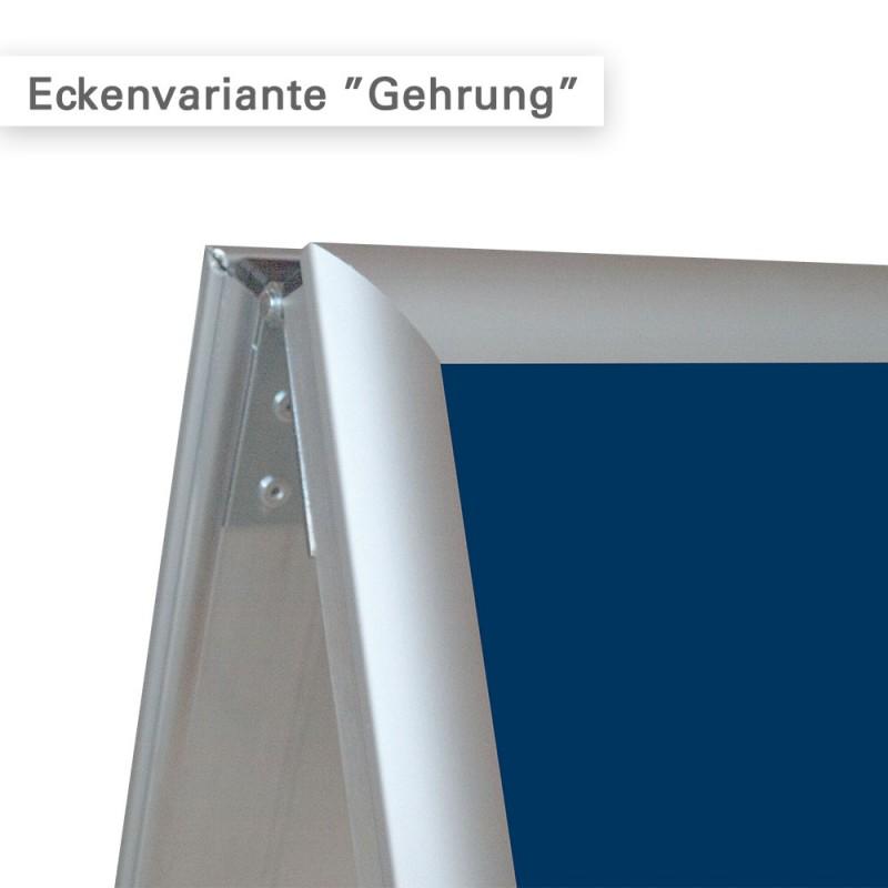 Kundenstopper A1 Variante Gehrung für den Innen- und Außenbereich - online bestellen.