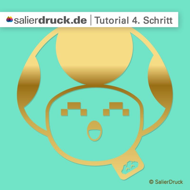 CMYK-Gold-Anleitung 4. Schritt | SalierDruck
