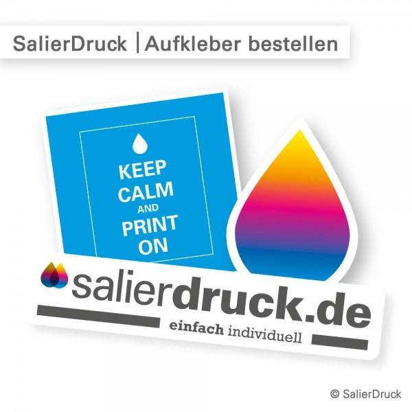 Aufkleber bestellen - individuell und günstig bei SalierDruck.de