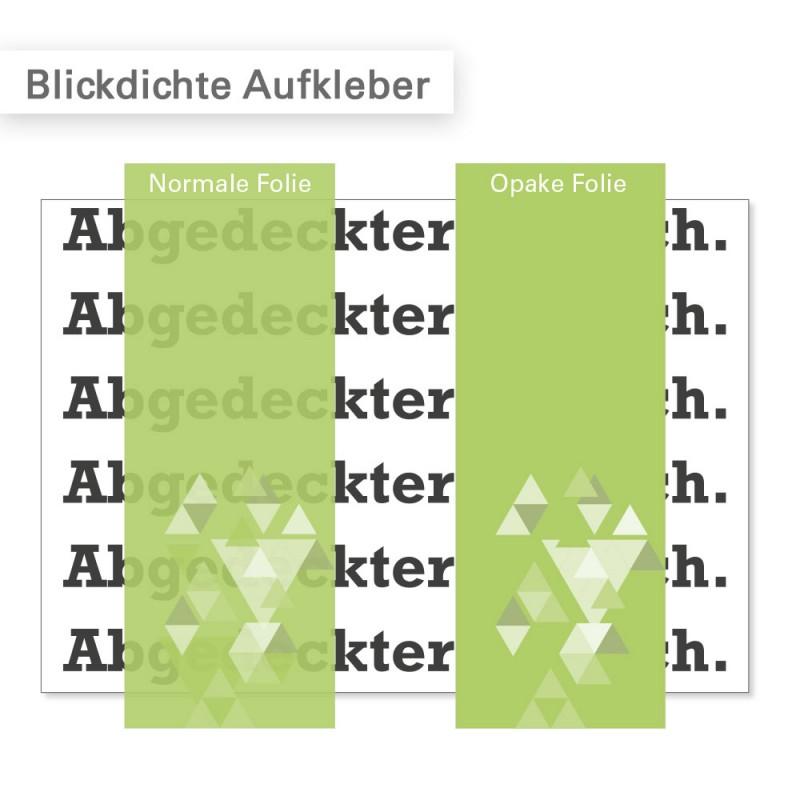Blickdichte Aufkleber drucken zum Überkleben von veralteten Informationen - SalierDruck.de