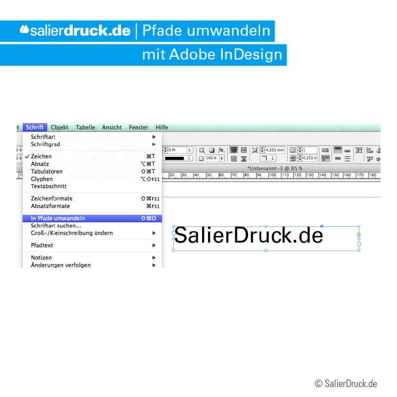 How-to: Pfade umwandeln im InDesign | SalierDruck.de