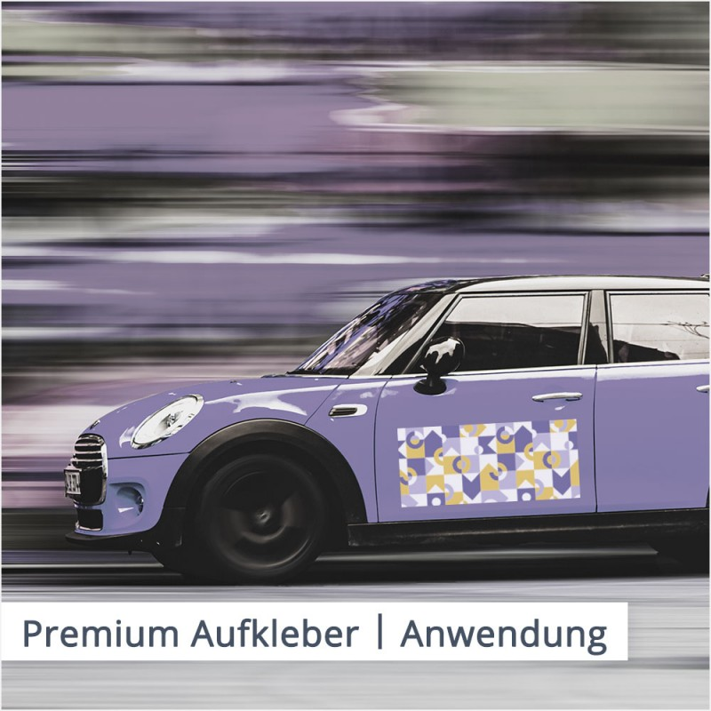 Premium Aufkleber können sogar an Fahrzeugen befestigt werden | SalierDruck.de